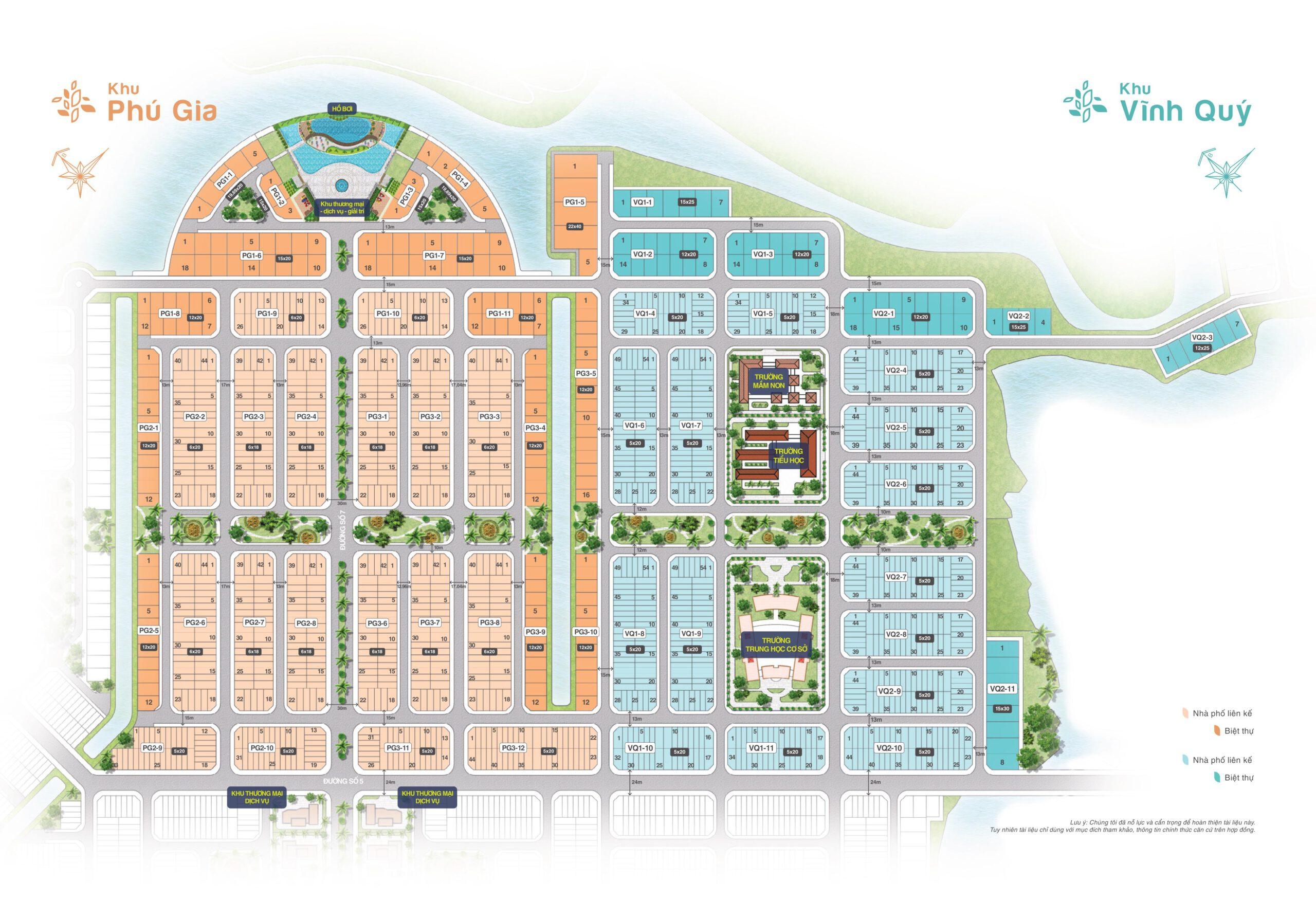 Mặt bằng khu Phú Gia và Vĩnh Quý Bien Hoa New City