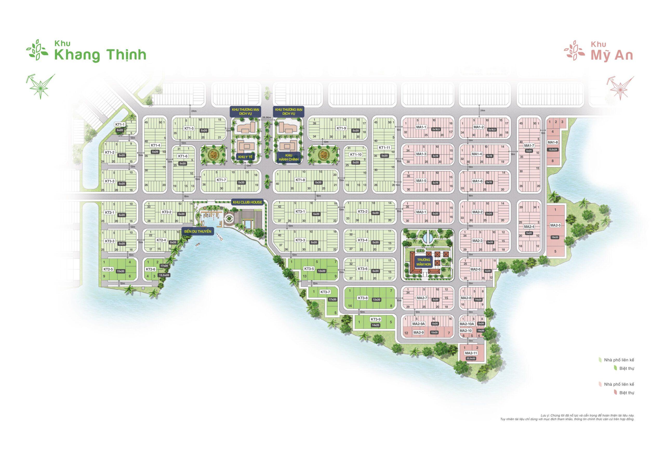 Mặt bằng khu Khang Thinh và Mỹ An Bien Hoa New City