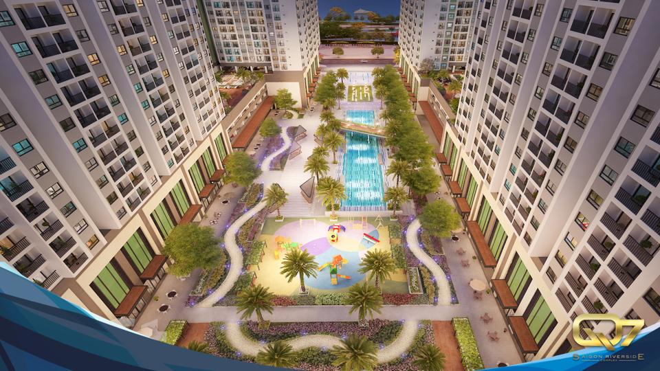 Phối cảnh tiện ích nội khu Q7 Sai Gon Riverside Complex