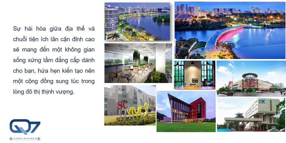 Tiện ích ngoại khu Q7 Sai Gon Riverside Complex
