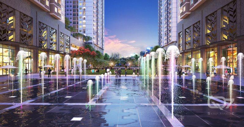 Quảng trường nhạc nước Q7 Sai Gon Riverside Complex