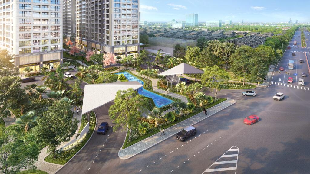 Phối cảnh lối vào dự án Lavita Thuận An