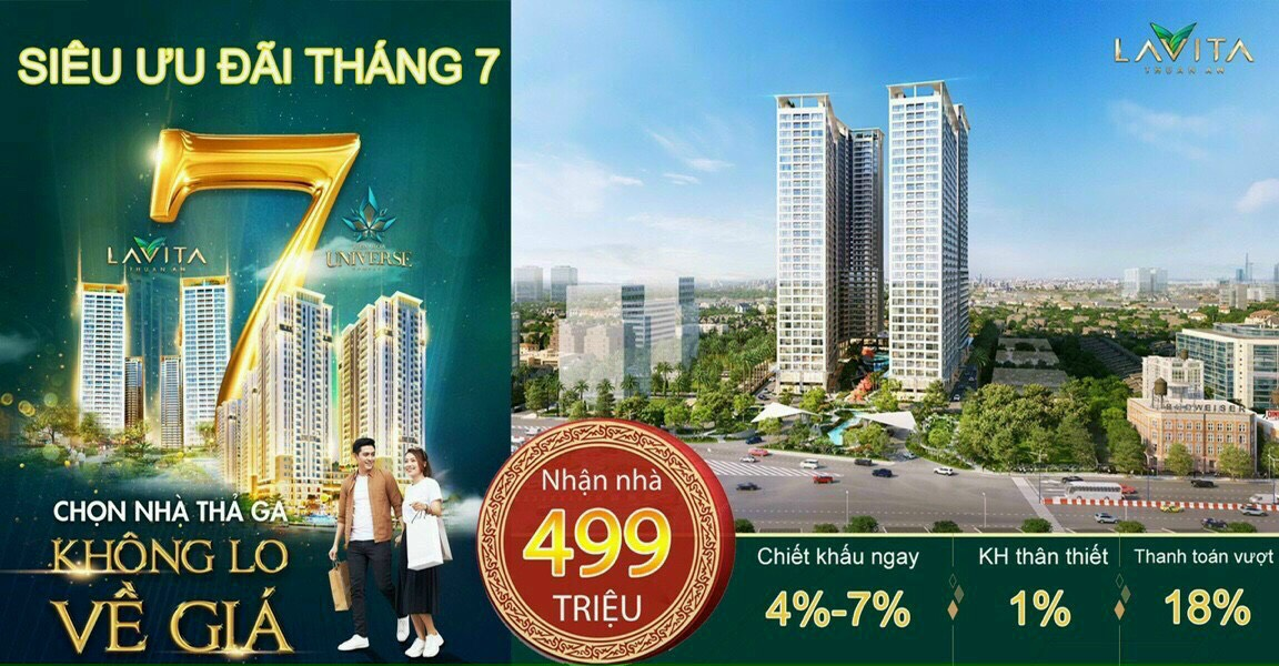 Căn hộ Lavita Thuận An giảm sâu trong tháng 7: chỉ còn 1.1 tỷ/căn