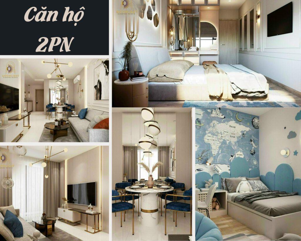 mẫu căn hộ 2PN Moonlight Centre Point
