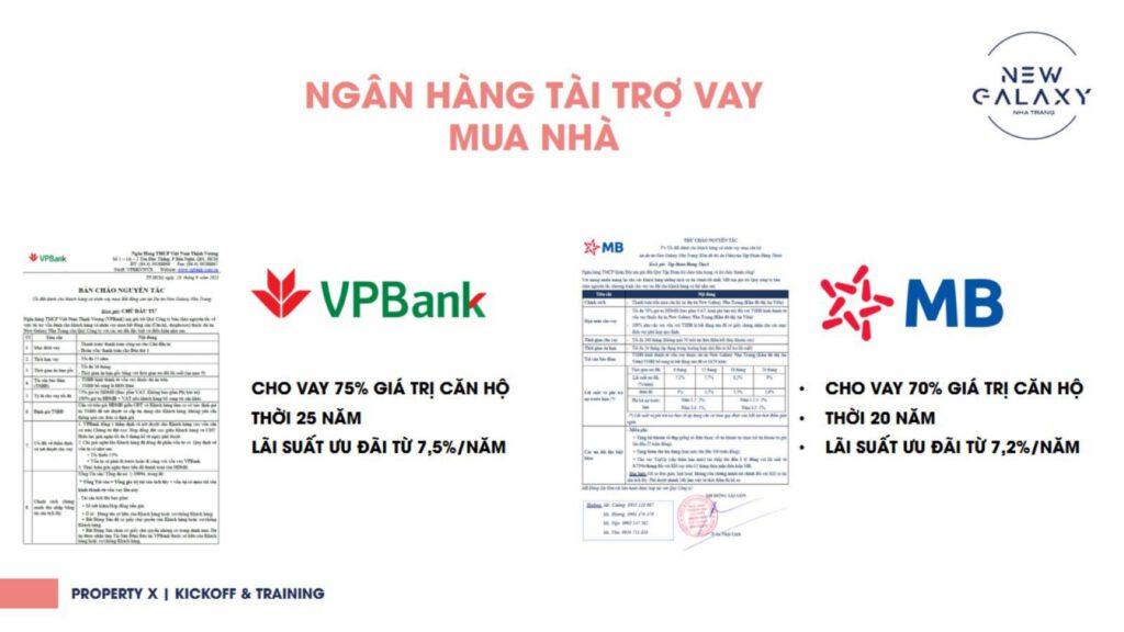 ngân hàng hỗ trợ vay vốn dự án New Galaxy Nha Trang