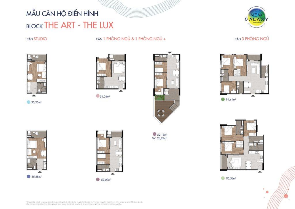 mẫu căn hộ điển hình New Galaxy Nha Trang